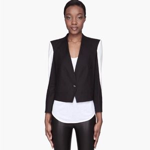 HELMUT LANG Black and white Era Suiting blazer